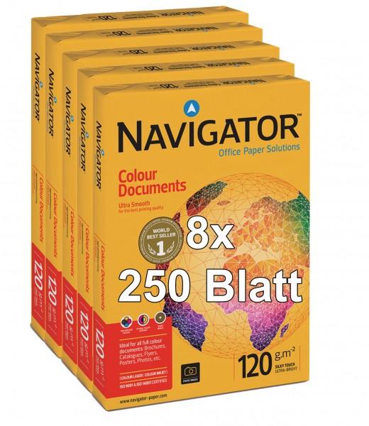 Kopierpapier Navigator Colour Documents, DIN A4, 120g/qm, weiß, 2.000 Blatt