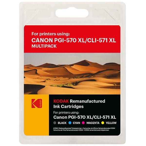 Sparpack! KODAK Tintenpatronen kompatibel zu PGI-570XL CLI-571XL (5)