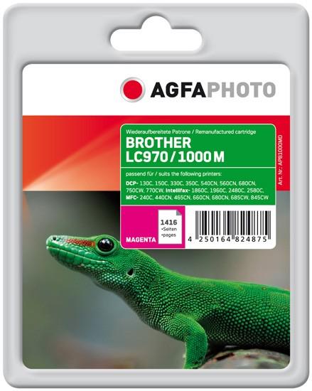 AGFAPHOTO Tintenpatrone Kompatibel zu Brother LC970M / LC1000M Magenta