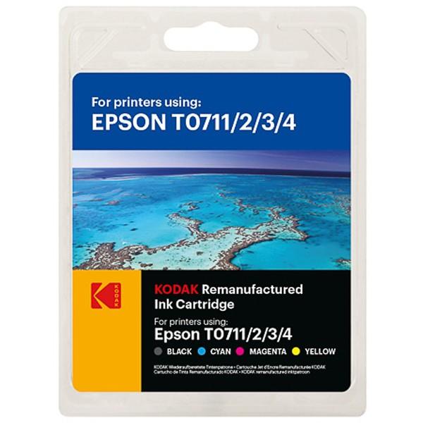 Multipack! KODAK Tintenpatronen kompatibel zu Epson T0715 C13T07154012 (4)