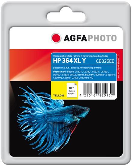 AGFAPHOTO Tintenpatrone Kompatibel zu HP 364XL / CB325EE Yellow