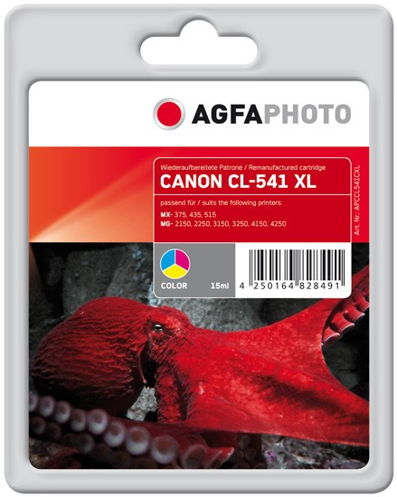 AGFAPHOTO Tintenpatrone Kompatibel zu Canon CL-541XL / 5226B005 Color (552 S.)