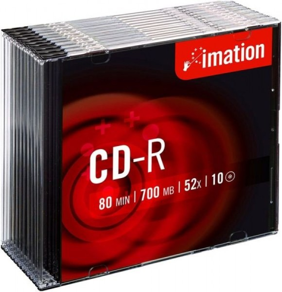CD-R Imation 700MB 80Min.52x Slim Case Silver (10 Stck.)