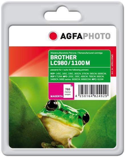 AGFAPHOTO Tintenpatrone Kompatibel zu Brother LC980M / LC1100M Magenta