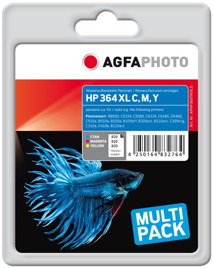 Sparpack! AGFAPHOTO Tintenpatronen Kompatibel zu HP 364XL (3)