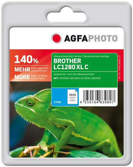 AGFAPHOTO Tintenpatrone kompatibel zu Brother LC1280 XL Cyan