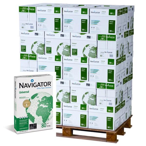 Kopierpapier Navigator, DIN A3, 80g/qm, weiß, 50.000 Blatt