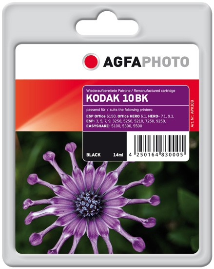 AGFAPHOTO Tintenpatrone kompatibel zu Kodak Nr.10 / 3949914 Black