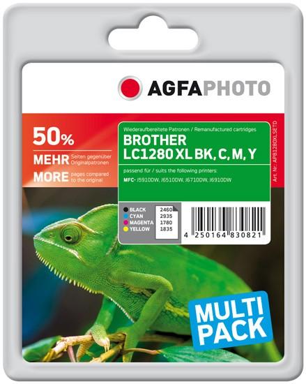 Multipack! AGFAPHOTO Tintenpatronen kompatibel zu Brother LC1280XL / LC1280XLVALBPDR (4)