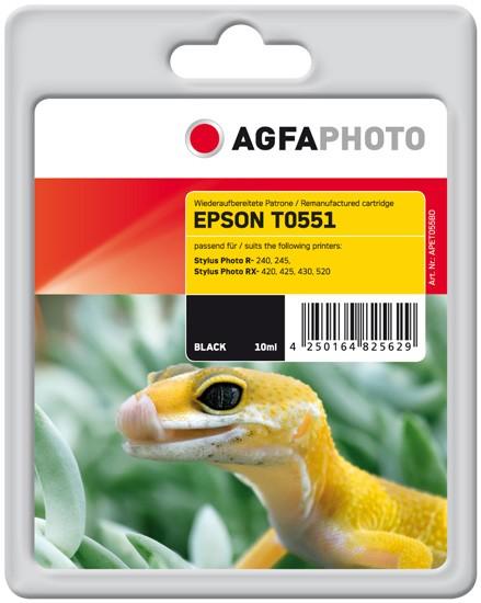 AGFAPHOTO Tintenpatrone Kompatibel zu Epson T0551-C13T05514010 Black