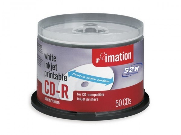 CD-R Imation 700MB 80Min.52x Spindel Green With Logo (50 Stck)