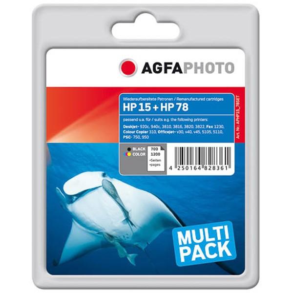Sparpack! AGFAPHOTO Tintenpatronen kompatibel zu SA310AE HP 15 + HP 78 (2)