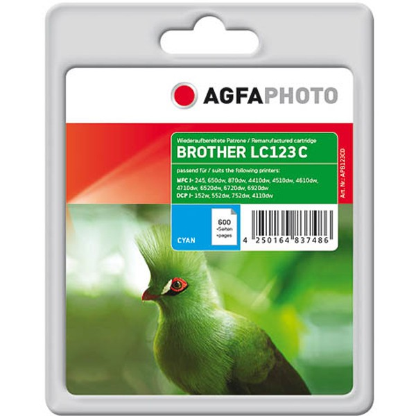 AGFAPHOTO Tintenpatrone Kompatibel zu Brother LC123 Cyan