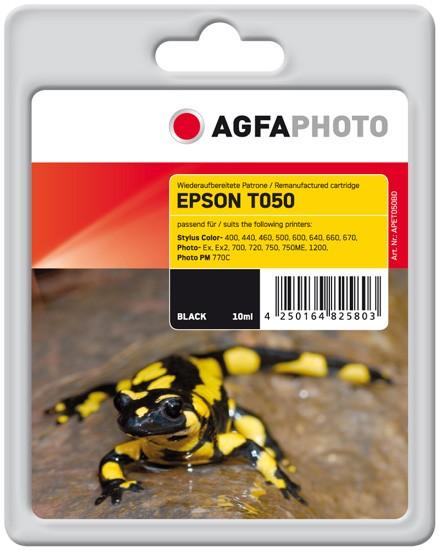 AGFAPHOTO Tintenpatrone kompatibel zu Epson T050-T0501-C13T05014010 Black