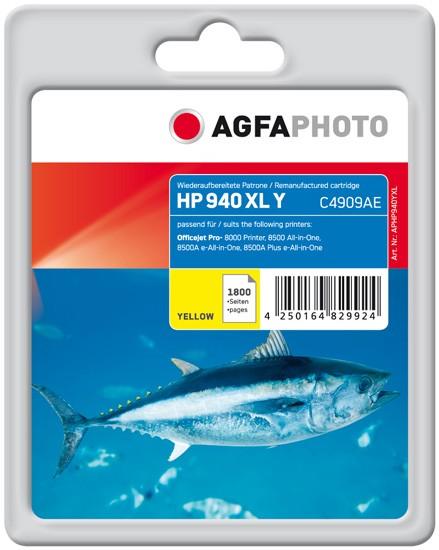 AGFAPHOTO Tintenpatrone kompatibel zu HP 940XL / C4909AE Yellow