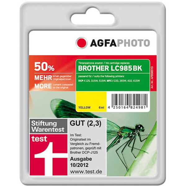 AGFAPHOTO Tintenpatrone kompatibel zu Brother LC985Y Yellow