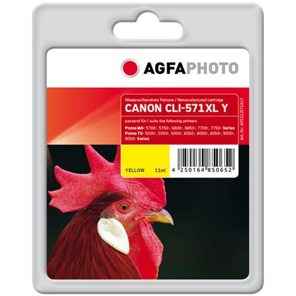 AGFAPHOTO Tintenpatrone kompatibel zu Canon CLI-571XL Yellow