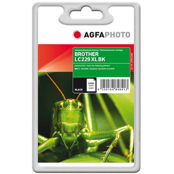 AGFAPHOTO Tintenpatrone kompatibel zu Brother LC229XL Black