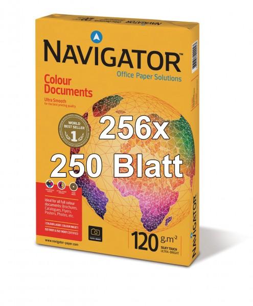 Kopierpapier Navigator Colour Documents, DIN A4, 120g/qm, weiß, 64.000 Blatt