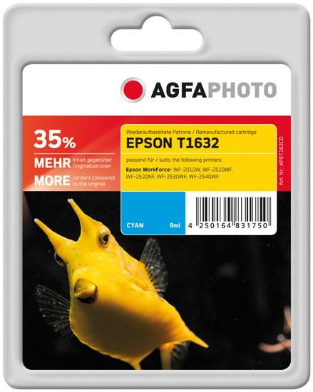AGFAPHOTO Tintenpatrone Kompatibel zu Epson 16XL-T1632-C13T16324012 Cyan
