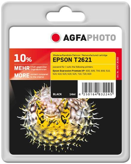 AGFAPHOTO Tintenpatrone kompatibel zu Epson 26XL-T2621-C13T26214010 Black