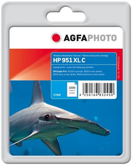 AGFAPHOTO Tintenpatrone kompatibel zu HP 951XL / CN046AE Cyan