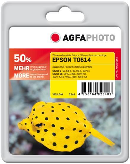 AGFAPHOTO Tintenpatrone kompatibel zu Epson T0614-C13T06144010 Yellow