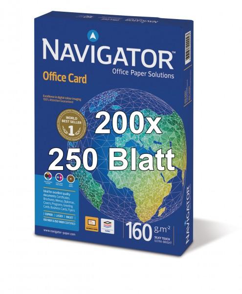 Kopierpapier Navigator Office Card, DIN A4, 160g/qm, weiß, 50.000 Blatt