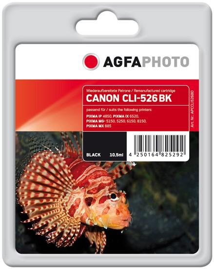AGFAPHOTO Tintenpatrone kompatibel zu Canon CLI-526 Black