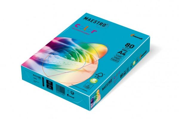 Kopierpapier Maestro-Color intensiv, DIN A4, 80g/qm, wasserblau, 100.000 Blatt