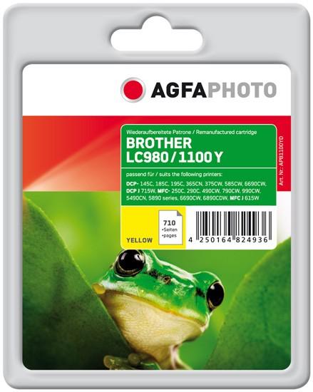 AGFAPHOTO Tintenpatrone Kompatibel zu Brother LC980Y / LC1100Y Yellow