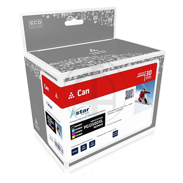 Sparpack! ASTAR Tintenpatronen kompatibel zu Canon PGI-2500XL 9254B004 (4)