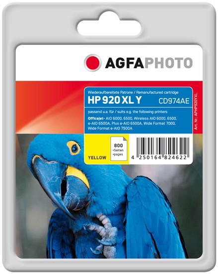 AGFAPHOTO Tintenpatrone kompatibel zu HP 920XL / CD974AE Yellow