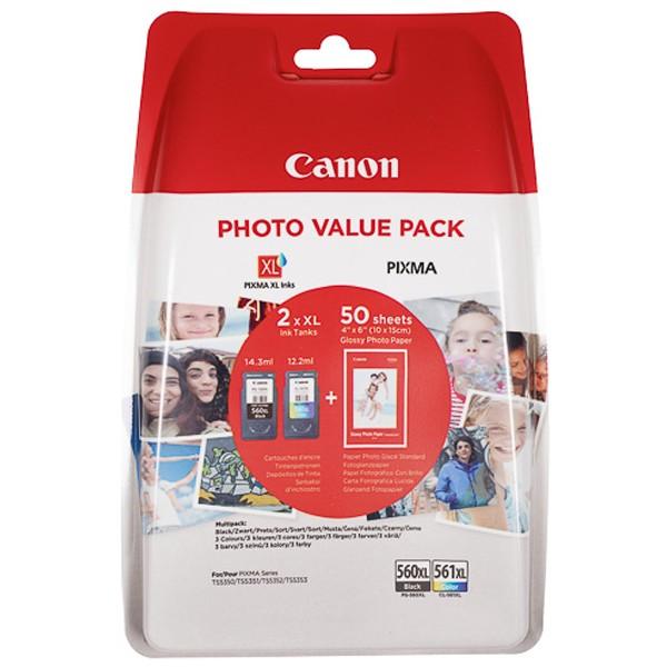 Canon 3712C004 PG560XL + CL561XL Tintenpatronen Multipack (2)