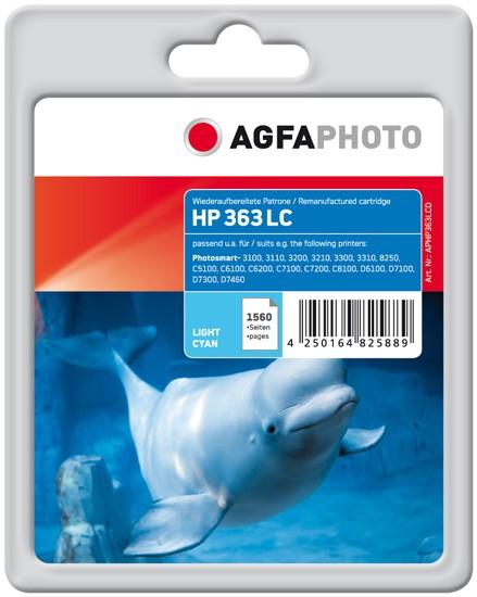 AGFAPHOTO Tintenpatrone Kompatibel zu HP 363 / C8774EE Light-Cyan