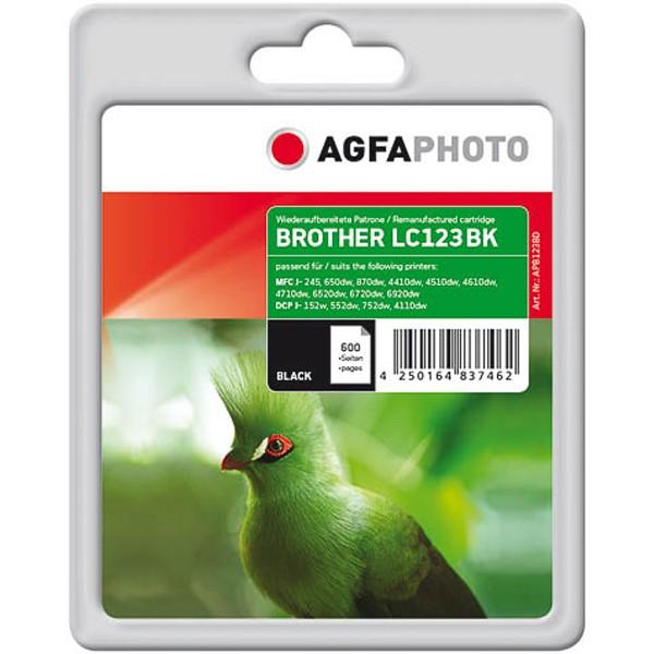 AGFAPHOTO Tintenpatrone Kompatibel zu Brother LC123 Black