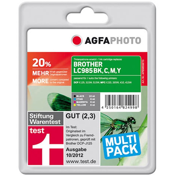 Sparpack! AGFAPHOTO Tintenpatronen kompatibel zu Brother LC985 (4)