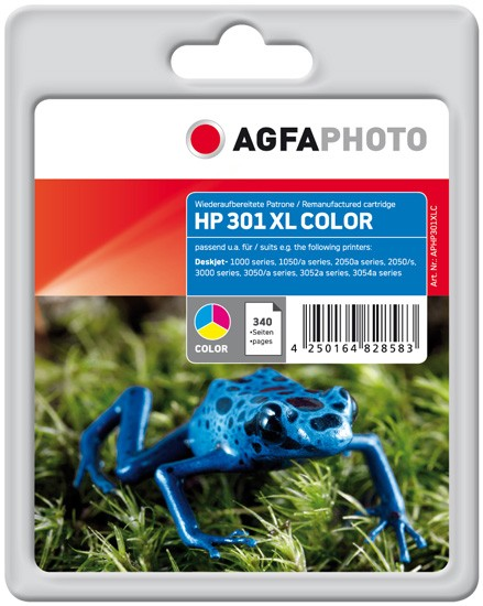 AGFAPHOTO Tintenpatrone kompatibel zu HP 301XL / CH564EE Color (12ml)