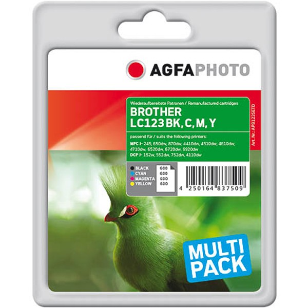 Sparpack! AGFAPHOTO Tintenpatronen kompatibel zu Brother LC123 (4)