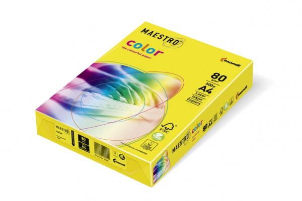 Kopierpapier Maestro-Color intensiv, DIN A4, 80g/qm, intensivgelb, 2.500 Blatt
