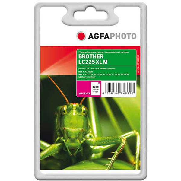 AGFAPHOTO Tintenpatrone kompatibel zu Brother LC225XL Magenta