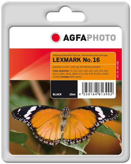 AGFAPHOTO Tintenpatrone Kompatibel zu Lexmark 16 / 10N0016E Black