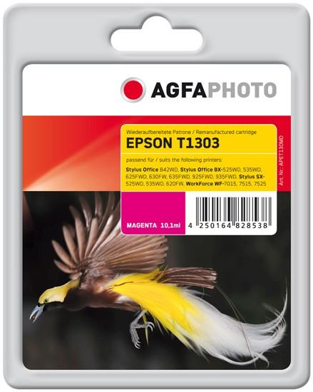 AGFAPHOTO Tintenpatrone Kompatibel zu Epson T1303 C13T13034012 Magenta (600 S.)
