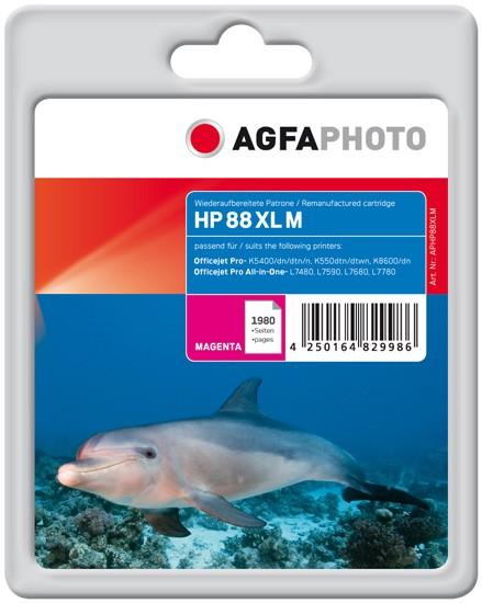 AGFAPHOTO Tintenpatrone kompatibel zu HP 88XL / C9392AE Magenta