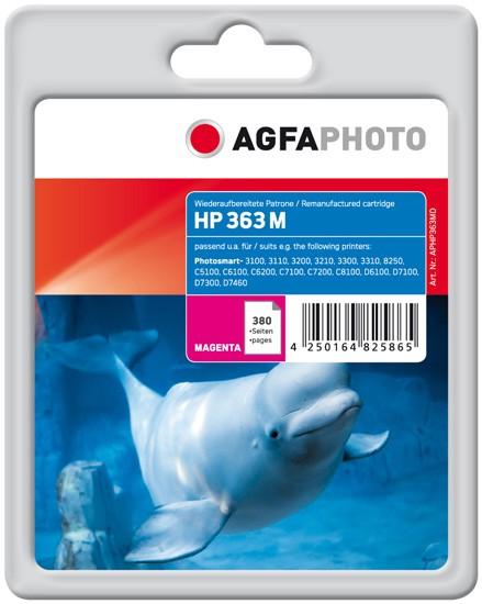 AGFAPHOTO Tintenpatrone Kompatibel zu HP 363 / C8772EE Magenta