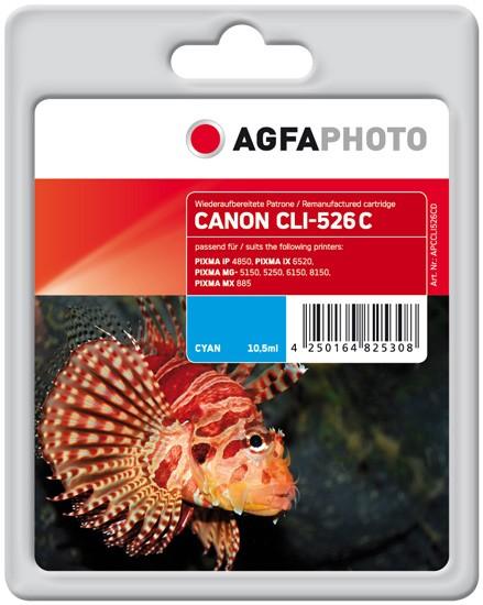 AGFAPHOTO Tintenpatrone kompatibel zu Canon CLI-526 Cyan