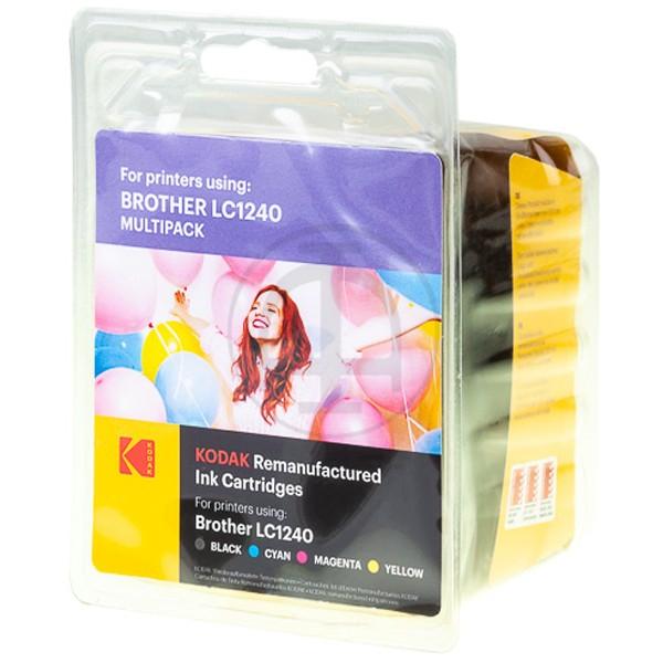 Multipack! KODAK Tintenpatrone kompatibel zu Brother LC1240 LC1240VALBPDR (4)