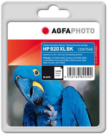 AGFAPHOTO Tintenpatrone kompatibel zu HP 920XL / CD975AE Black