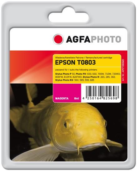 AGFAPHOTO Tintenpatrone kompatibel zu Epson T0803-C13T08034011 Magenta