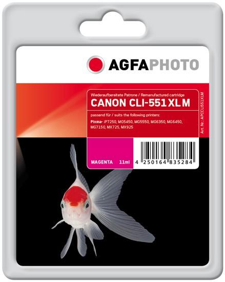 AGFAPHOTO Tintenpatrone kompatibel zu Canon CLI-551XL Magenta